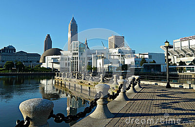 Erie Lakefront E. 9th Street Pier Downtown Cleveland, Ohio