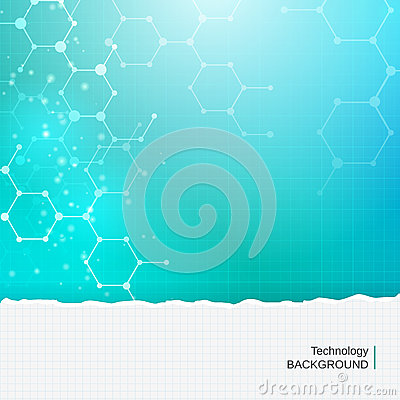 Abstract chemistry molecules technology medical  background