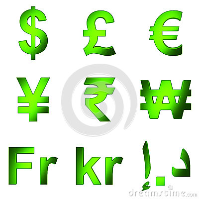 3d Currency Symbol Green Satined Matterial Png Transparent Background