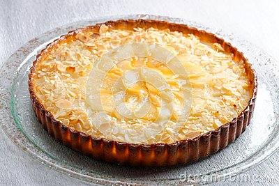 French cuisine pie with apricots