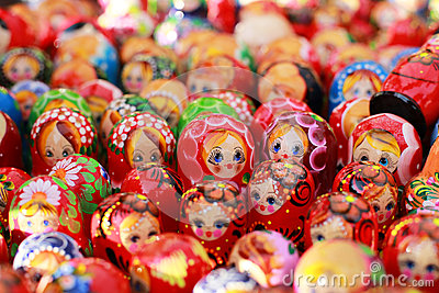 Russia, Moscow gift shop