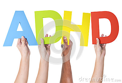 Multiethnic Arms Raised Holding ADHD