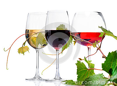 Three glasses of wine