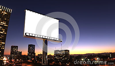 Billboard in night city