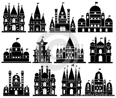 Vector Of Castle Icons