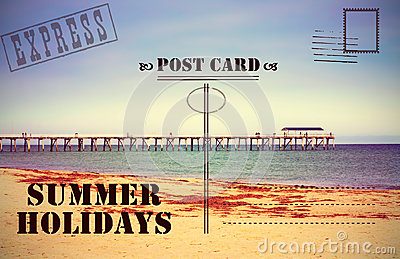 Retro vintage Summer Holidays Vacation postcard
