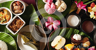 Indonesian food with Fruit