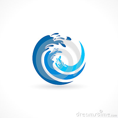 Water wave splash icon