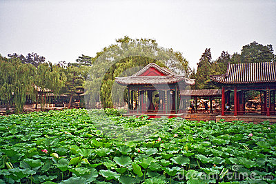 Chinese garden in summer palace, Beijing, China.