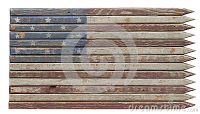 Faded Americana Wooden Flag