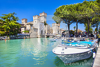 Sirmione on lake Lago di Garda, Italy