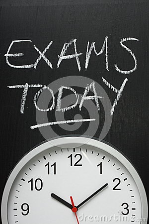 Exams Today and Wall Clock
