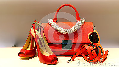 Ladies shoes, handbag and accessories
