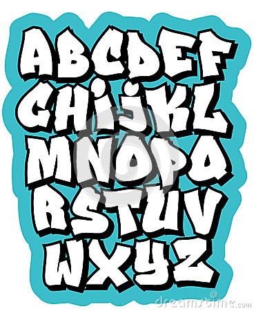 Cartoon Comic Graffiti Doodle Font Alphabet Vector