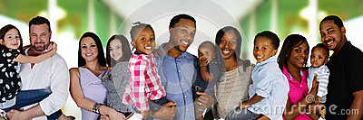 stock image of families