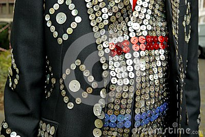 London: pearly king suit detail
