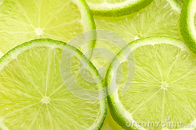 slices of fresh lime
