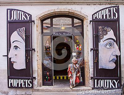 Prague, puppet shop