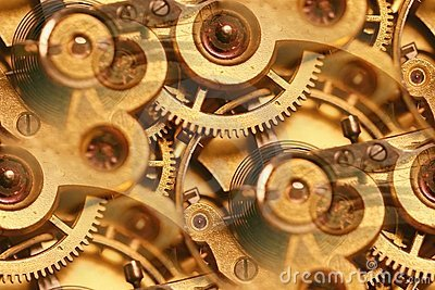 Antique watch inner workings abstract