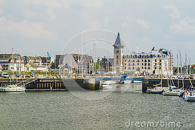 Deauville the yacht harbor