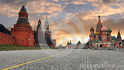 Russia. Moscow. The red area.