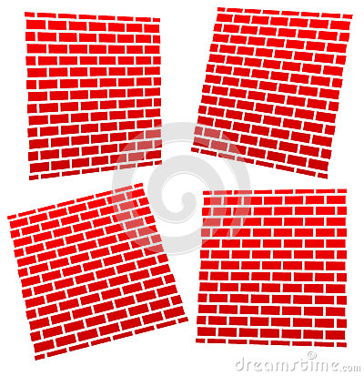 Brickwalls in different perspectives