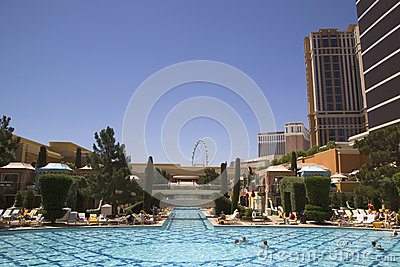 The pool at The Wynn Encore Casino in Las Vegas
