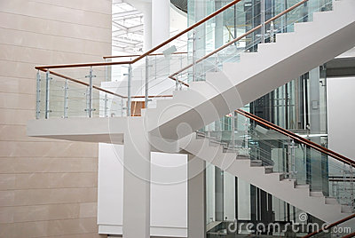 Stairs in the building