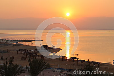 Morning Sun over Dead sea