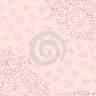 Floral pattern. Vector illustration. Beautiful background. Endless texture can be used for printing onto fabric and paper or scrap