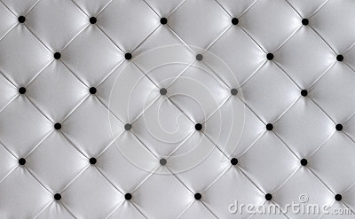 White leather button headboard background