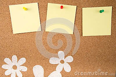 Sticky note memo on board