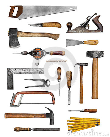 Old carpenter hand tools