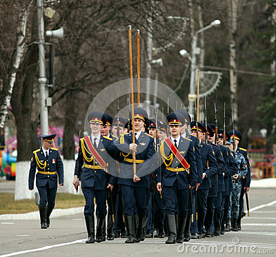Dress rehearsal of Military Parade of victory