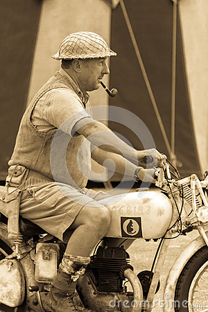 Desert Rat soldier on motorbike