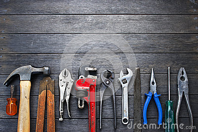 Tools Rustic Wood Background Business Construction