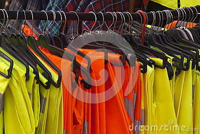Safety Jackets and Trousers on hangers