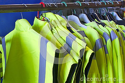 Safety Jackets on hangers