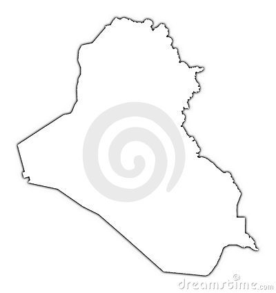 Outline Map - Iraq map outline