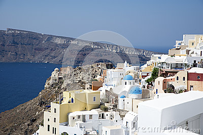 Houses and churches in Oia, Santorini