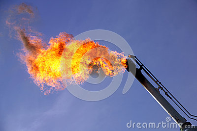 GAS FLARING AMERICAN OIL INDUSTRY PRODUCTION