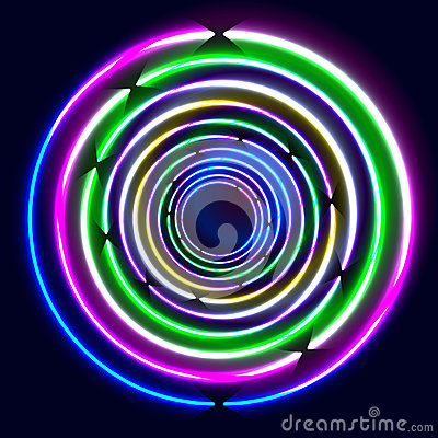 Colorful Glowing Rings -  eps10 abstract background art
