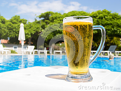 Beer by the pool