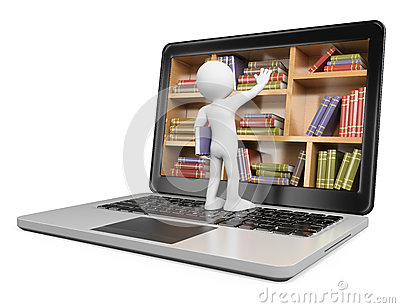 3D white people. New technologies. Digital Library