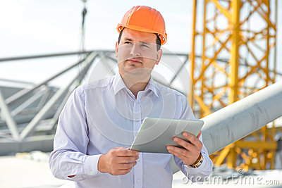 A foreman at the construction