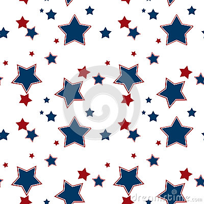 seamless white pattern with red blue stars background pattern with red blue stars background