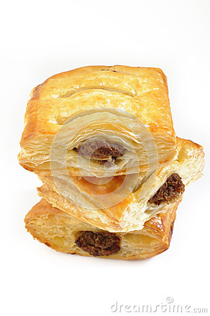 Puff pies with meat