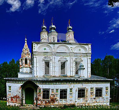 Russian old white Orthodox Church
