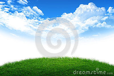 Grass and sky world