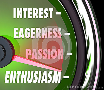 Enthusiasm Gauge Level Interest Eagerness Passion Speedometer